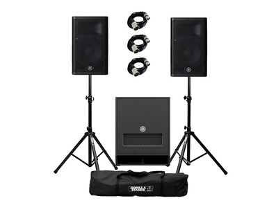 Yamaha DXR8 mkII (Pair) & DXS12 mkII + Stands & Cables