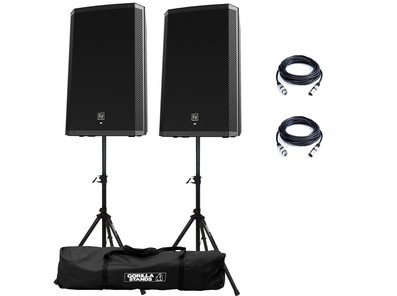 Electro-Voice ZLX12P Speakers & Stands Package