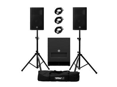 Yamaha DXR12 mkII (Pair) & DXS12 mkII plus Stands and Cables