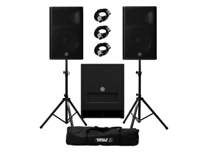 Yamaha DXR15 mkII (Pair) & DXS15 mkII plus Stands and Cables