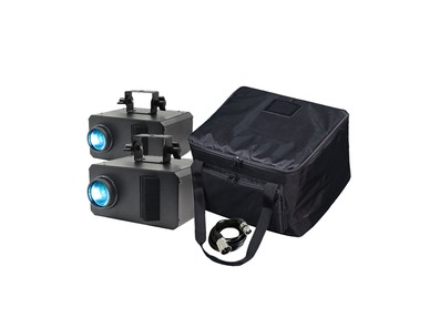 Equinox Axis 50W Gobo Flower (Pair) with DMX Cable + Free Bag