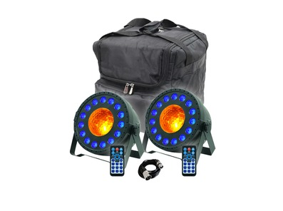 Equinox MoonPar x2 with Carry Bag & Cable