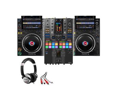 Pioneer CDJ-3000 (x2) + DJM-S11 SE w/ Headphones + Cable