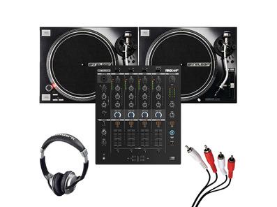 Reloop RMX-44 BT + RP-7000 MK2 (Pair) w/ Headphones + Cable