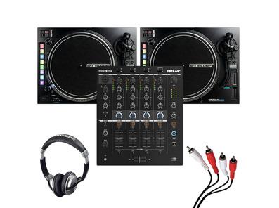 Reloop RMX-44 BT + RP-8000 MK2 (Pair) w/ Headphones + Cable