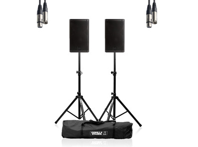 RCF ART 910-A (Pair) w/ Stands, Carry Bag & Cable
