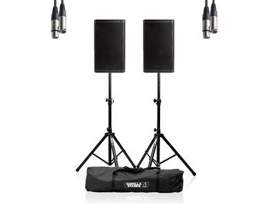 RCF ART 912-A (Pair) w/ Stands, Carry Bag & Cable