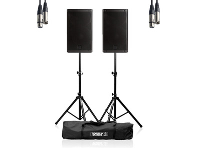 RCF ART 915-A (Pair) w/ Stands, Carry Bag & Cable