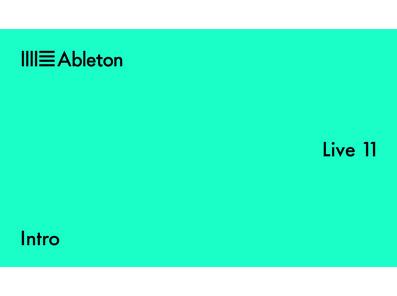 Ableton Live 11 - Intro