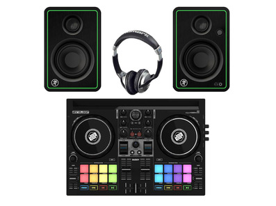 Reloop Buddy + Mackie CR3-X w/ Headphones