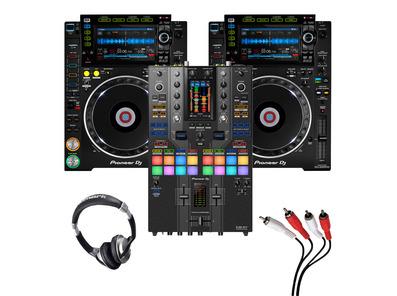 Pioneer CDJ-2000 NXS2 (Pair) + DJM-S11 SE w/ Headphones + Cable