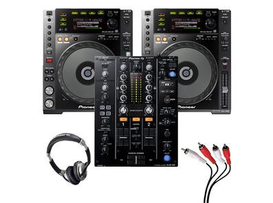 Pioneer CDJ-850 (Pair) + DJM-450 w/ Headphones + Cable
