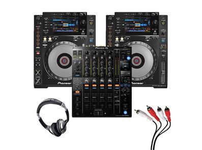 Pioneer CDJ-900 NXS (Pair) + DJM-900 NXS2 w/ Headphones + Cable