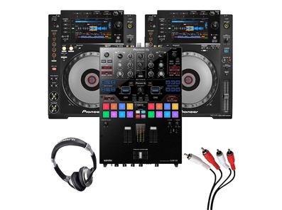Pioneer CDJ-900 Nexus (Pair) + DJM-S9 w/ Headphones + Cable