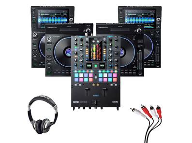 Denon LC6000 (Pair) + SC6000 (x2) + Rane Seventy-Two MKII w/ Headphones + Cable