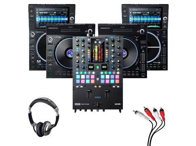 Denon LC6000 (Pair) + SC6000M (x2) + Rane Seventy-Two MKII w/ Headphones + Cable