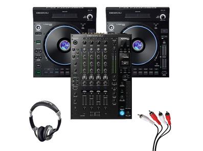 Denon LC6000 (Pair) + X1850 Mixer w/ Headphones + Cable
