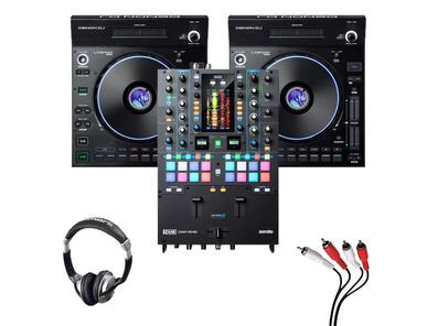 Denon LC6000 (Pair) + Rane Seventy-Two MKII w/ Headphones + Cable