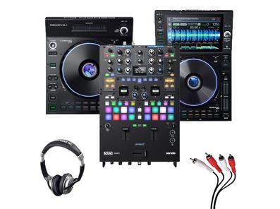 Denon LC6000 + SC6000 + Rane Seventy w/ Headphones + Cable