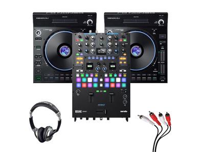 Denon LC6000 (Pair) + Rane Seventy Mixer w/ Headphones + Cable