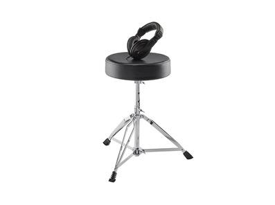 Alesis Drum Essentials Bundle - Headphones & Stool