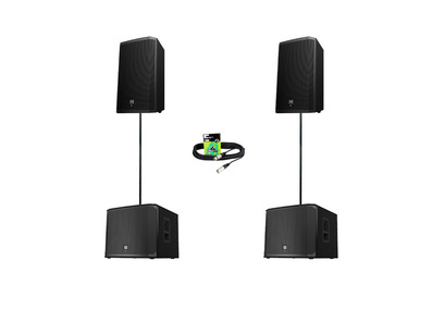 Electro-Voice ZLX15P (Pair) + EKX-15SP (Pair) w/ Poles & Cables