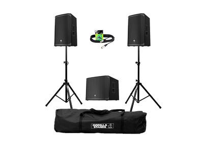 Electro-Voice EKX-12P (Pair) + EKX-15SP Sub w/ Stands, Carry Bag & Cables