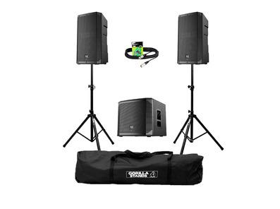 Electro-Voice ELX200-15P (Pair) + ELX200-18SP w/ Stands, Carry Bag & Cables