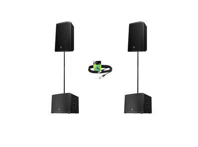 Electro-Voice ZLX12P (Pair) + ELX200-12SP (Pair) w/ Poles & Cables