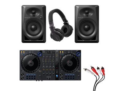 Pioneer DDJ-FLX6 + DM-40 w/ Headphones + Cable