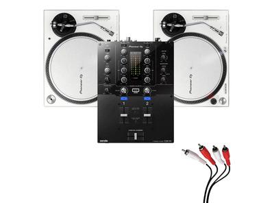 Pioneer PLX-500 White & DJM-S3 Turntable Package