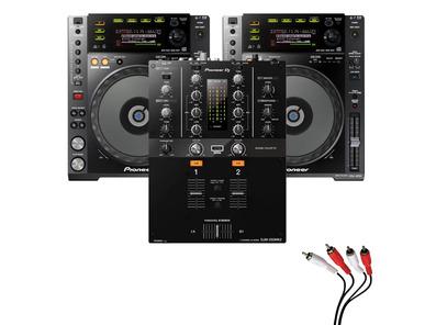 Pioneer CDJ850 Black & DJM-250MK2 Mixer Package