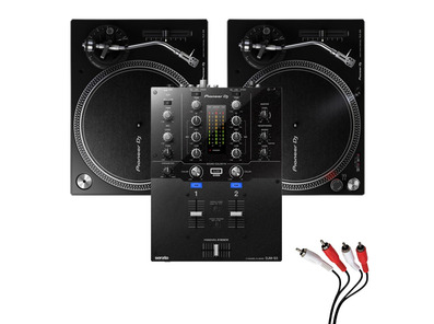 Pioneer DJ PLX-500 & DJM-S3 Turntable Package
