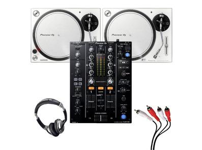 Pioneer PLX-500 (Pair)+ DJM-450 w/ Headphones + Cable