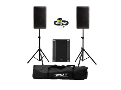 RCF Art 915-A (Pair) + 708AS II Sub w/ Stands, Carry Bag & Cables