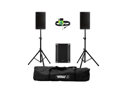 RCF Art 932-A (Pair) + 705AS II Sub w/ Stands, Carry Bag & Cables