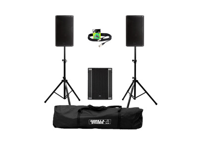 RCF Art 935-A (Pair) + 708AS II Sub w/ Stands, Carry Bag & Cables