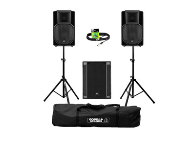 RCF Art 712-A MK4 (Pair) + 705AS II Sub w/ Stands, Carry Bag & Cable
