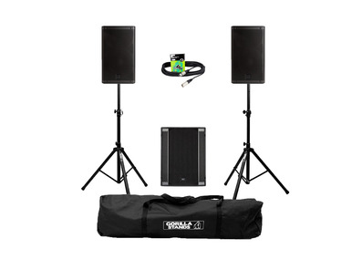 RCF Art 910-A (Pair) + 702AS II Sub w/ Stands, Carry Bag & Cables