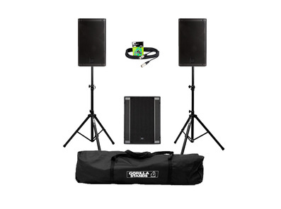 RCF Art 912-A (Pair) + 705AS II Sub w/ Stands, Carry Bag & Cables