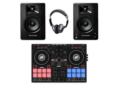 Reloop Ready + M-Audio BX4 w/ Headphones
