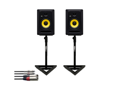 KRK RP7 Classic (Pair) w/ GSM-100 Stands + Cable