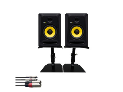 KRK RP7 Classic (Pair) w/ GSM-50 Stands + Cable