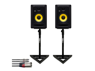 KRK RP8 Classic (Pair) w/ GSM-100 Stands + Cable