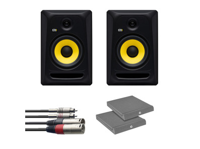 KRK RP8 Classic (Pair) w/ Isolation Pads + Cable