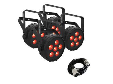 Chauvet DJ SlimPar T6BT (x4) + DMX Cable