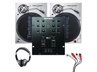 Technics SL1200MK7 (Pair) + Numark M101 w/ Headphones & Cable