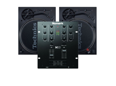 Technics SL1210 MK7 Turntables and Numark M101 Mixer Package