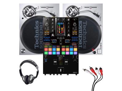 Technics SL1200MK7 (Pair) + DJM-S11 Mixer w/ Headphones + Cable