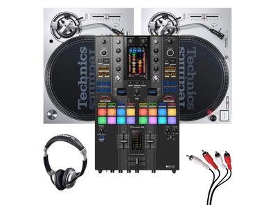 Technics SL1200MK7 (Pair) + DJM-S11 SE Mixer w/ Headphones + Cable